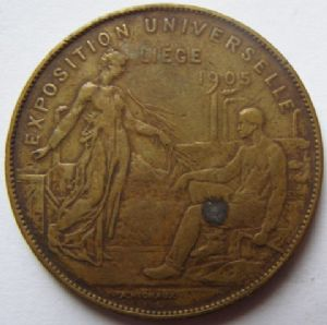front view: 1905 EXPOSITION UNIVERSELLE LIEGE. HELP!!