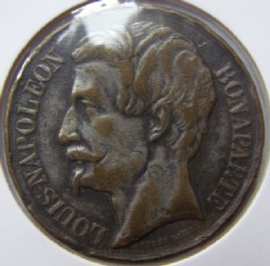 front view: 1848 NAPOLEAN MEDAL - HELP!!