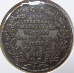 rear view: 1848 NAPOLEAN MEDAL - HELP!!
