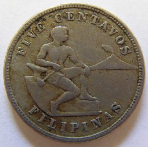 rear view: 1918 Philippines 5 Centavo or Mule ??