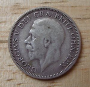 rear view: 1933 Shilling - Great Britain - George V