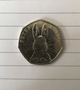2016 - Peter Rabbit [2016] circulated 50p piece