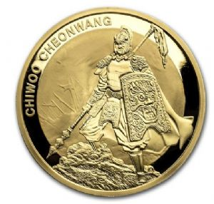2012 - 2016 1 OZ SOUTH KOREA CHIWOO CHEONWANG .999 GOLD BU (SPECIAL EDITION)