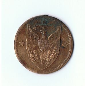 rear view: 1900 unknown indian-eagle medal