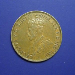 rear view: 1934 Half Penny, George V