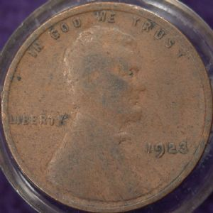 front view: 1923 USA 1923 Wheat Back Cent