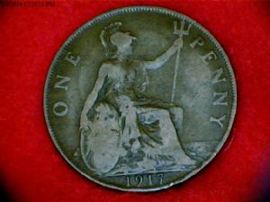 front view: 1917 1917 penny