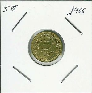 front view: 1966 5 centimes