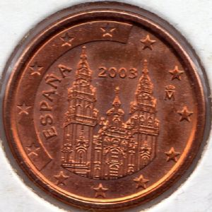 front view: 2003 1 eurocent - Spain