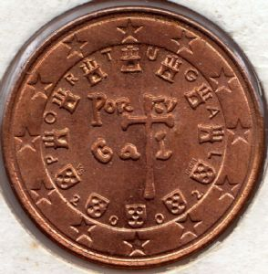 front view: 2002 5 eurocent - Portugal