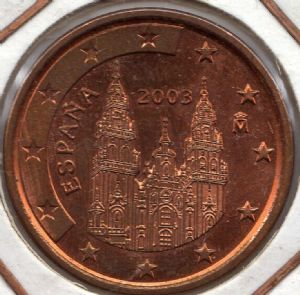 front view: 2003 5 eurocent - Spain