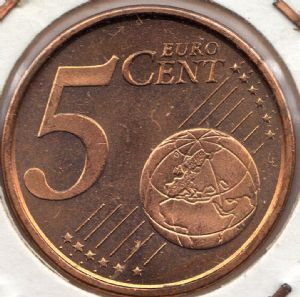 rear view: 2001 5 eurocent - Spain